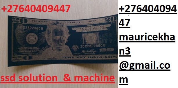 SSD CHEMICAL SOLUTION TO CLEAN BLACK MONEY I