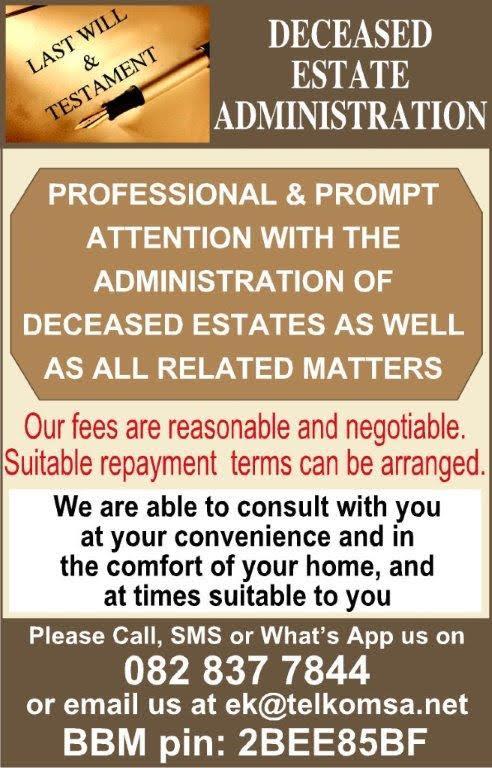 Deceased Estates Administration Services